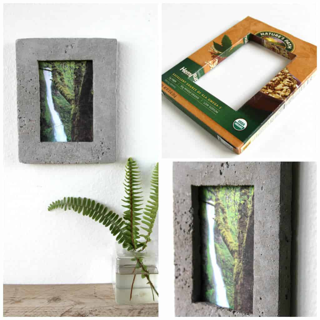 Cereal Box Concrete Picture Frame • Recyclart