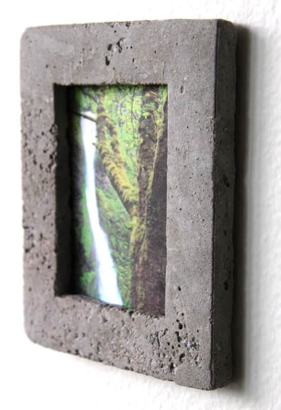 Cereal Box Concrete Picture Frame Accessories Do-It-Yourself Ideas
