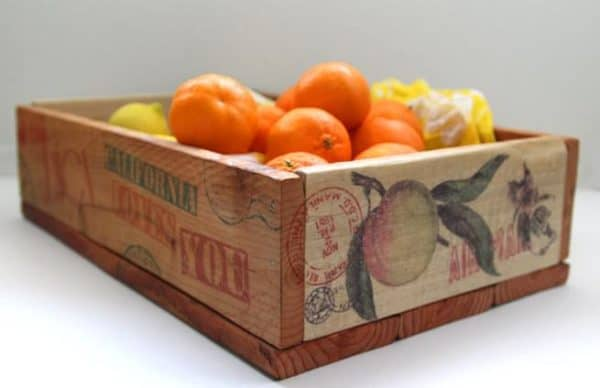 Turn pallet wood into a vintage orange crate.