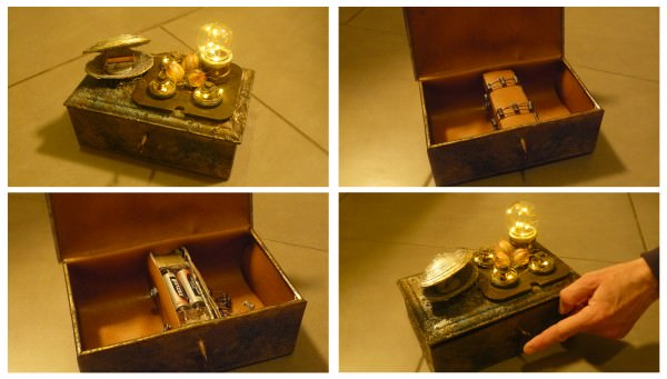 Steampunk Alchemy Boxes Recycled Art