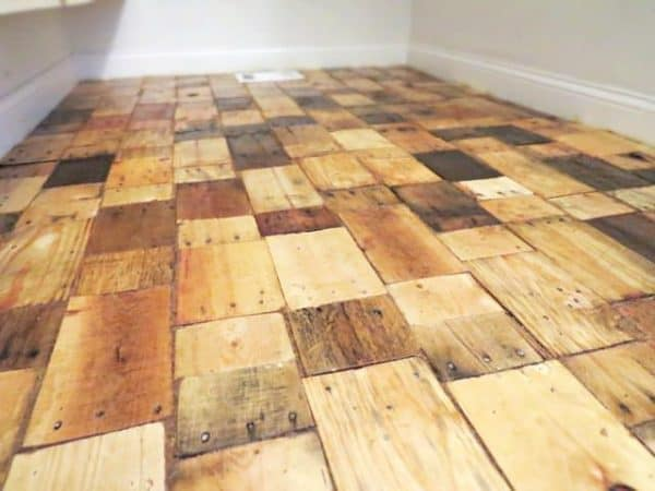 Diy Pallet Wood Floor Recyclart