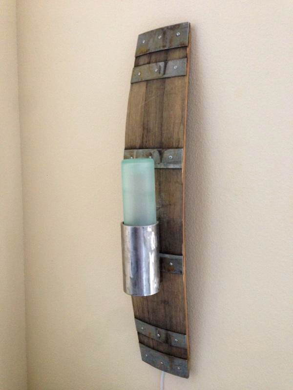 The Healdsburg Light (Recycled Wine Barrel) Lamps & Lights Wood & Organic