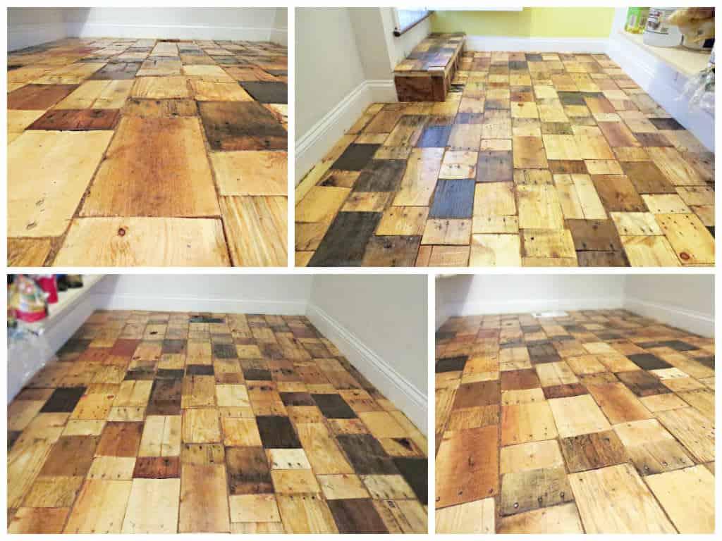 Diy Pallet Wood Floor Recyclart