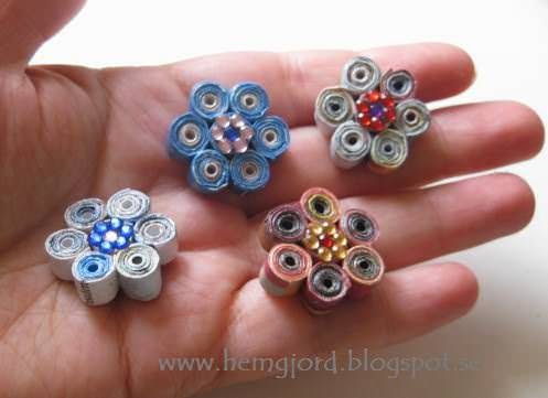 Small Paperflower Upcycled Jewelry Ideas