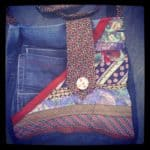 Green Devil: Bag Made from Neckties and Jeans
