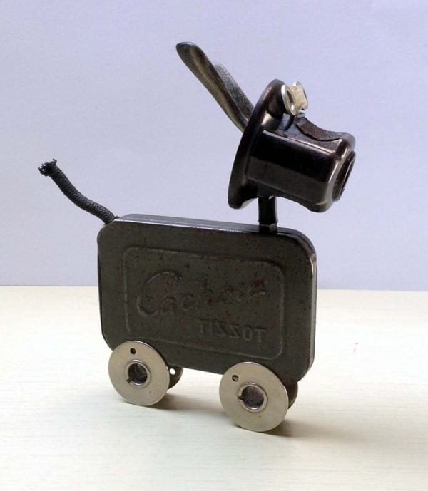 Amazing Tiny Dogs Made By Daphné Burge Recycled Art