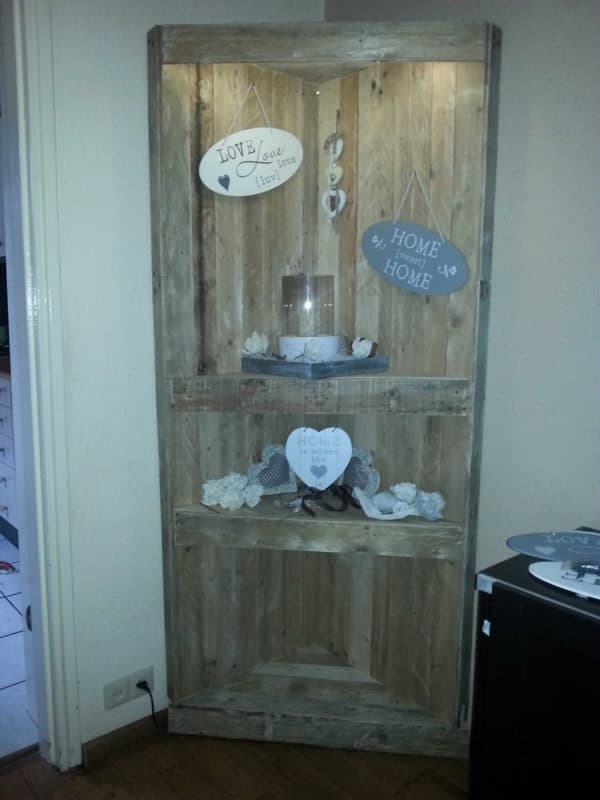 Pallets Corner Cabinet Recycled Pallets