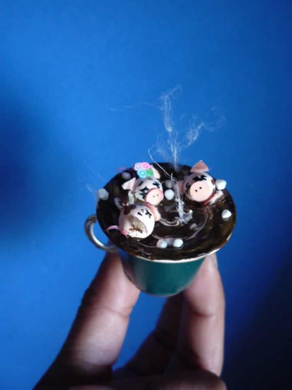 Nespresso Capsule Miniature Art Recycled Art