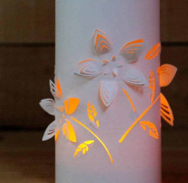 Re-purposed Dimensional Lantern with Color Glow Do-It-Yourself Ideas
