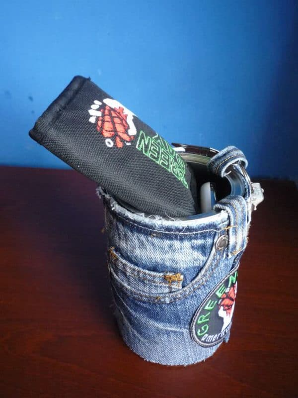 Recycled Jeans & Cans … Multipurpose Accessories Clothing