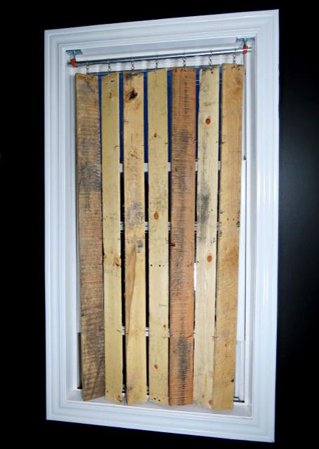 Diy Pallet Wood Vertical Blinds Recycled Pallets