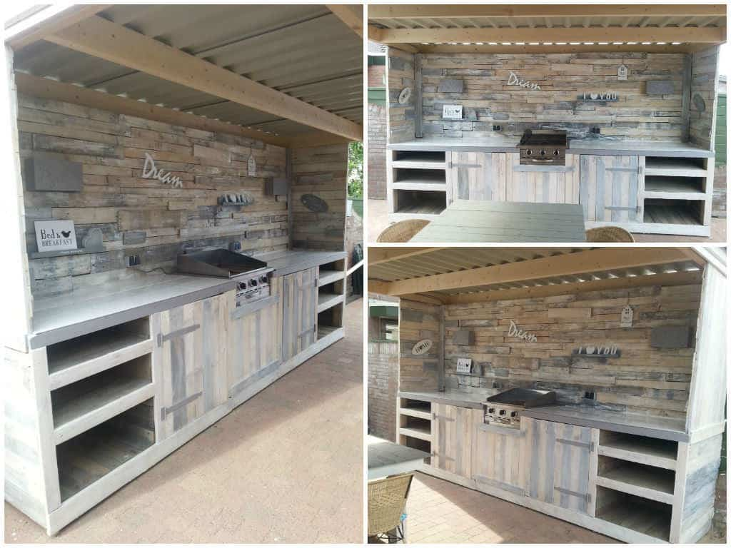 Outdoor Kitchen Made From Repurposed Pallets Recyclart