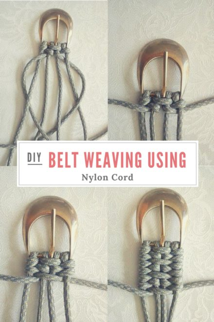Tutorial: Belt Weaving Using Nylon Cord