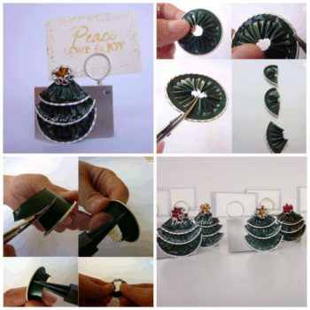 DIY: Christmas Placeholder With Recycled Coffee Capsules