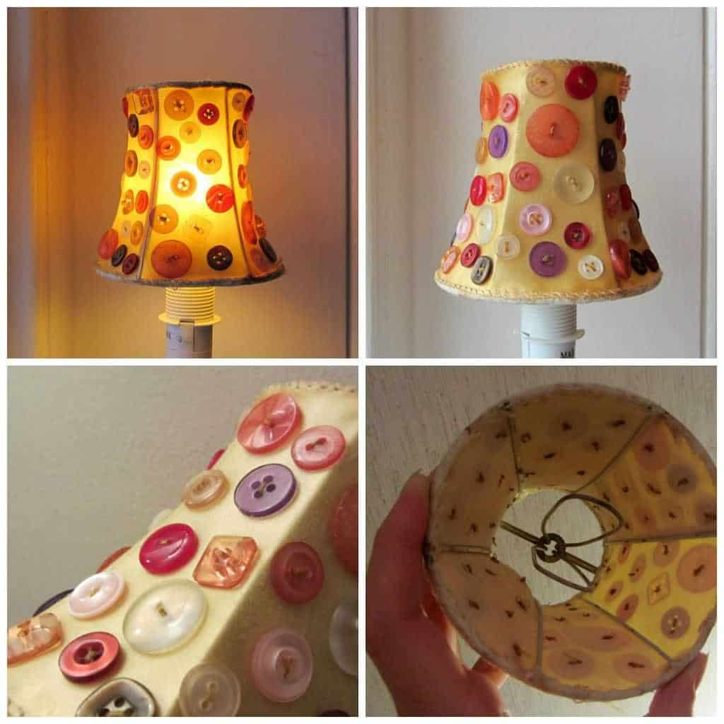 Button Lampshade • Recyclart