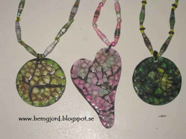 Necklace From Repurposed Materials Upcycled Jewelry Ideas