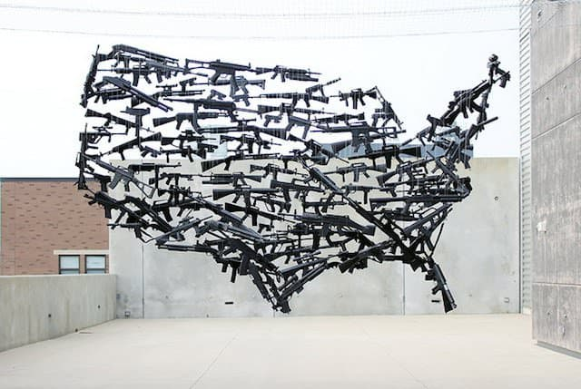 Michael Murphy's Installation From Repurposed Weapons Recycled Art