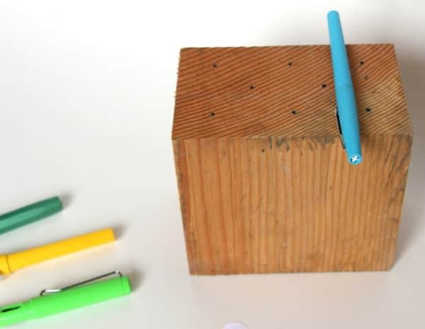 Reclaimed Wood Wall Hanging Pen Holder Accessories Wood & Organic