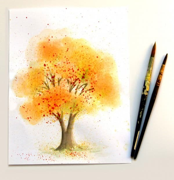 Toothbrush Watercolor Art Do-It-Yourself Ideas