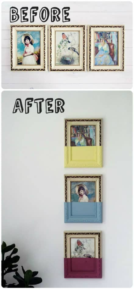 Diy : Paint Dipped Vintage Picture Frames