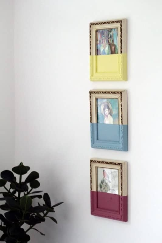 Diy : Paint Dipped Vintage Picture Frames • Recyclart