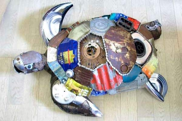 Animal Sculptures From Found Objects By Natsumi Tomita Recycled Art