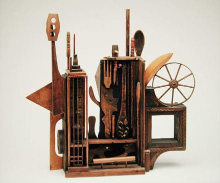 Assemblage Sculpture in Memory of Louise Nevelson