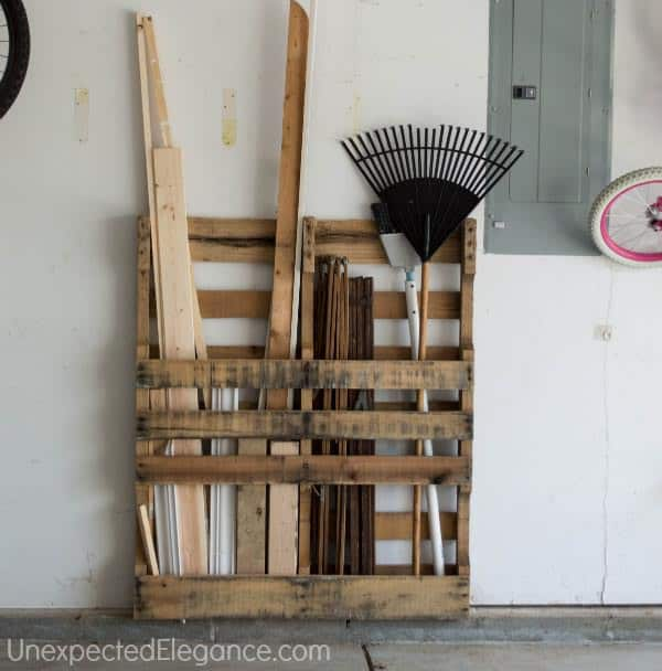 Pallet As Free Garage Organization Recycled Pallets