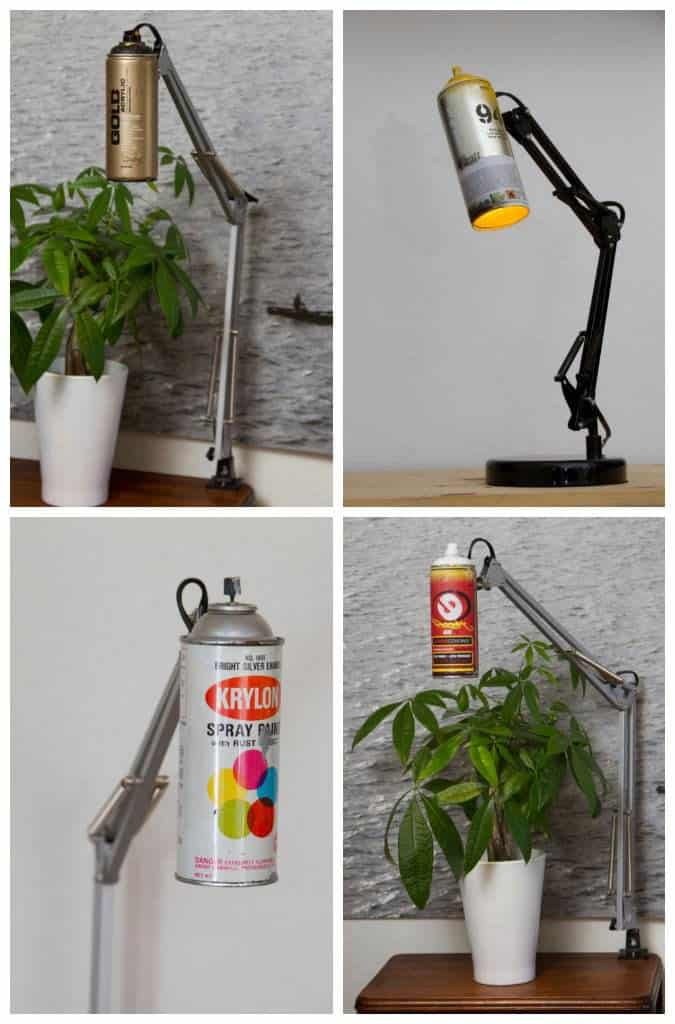 Spray Can Lamp Recyclart
