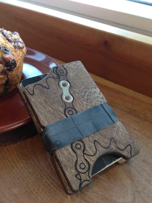 Wiscowood Minimalist Cycling Wallets Upcycled Bicycle Parts