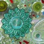 Recycled Glass Window Art