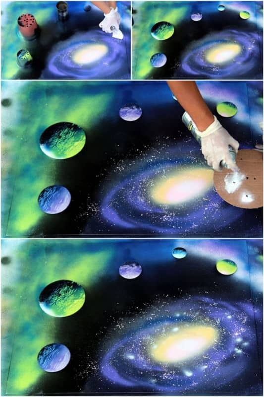 Paint A Galaxy In 30 Minutes With Recycled Objects Do-It-Yourself Ideas Recycled Art