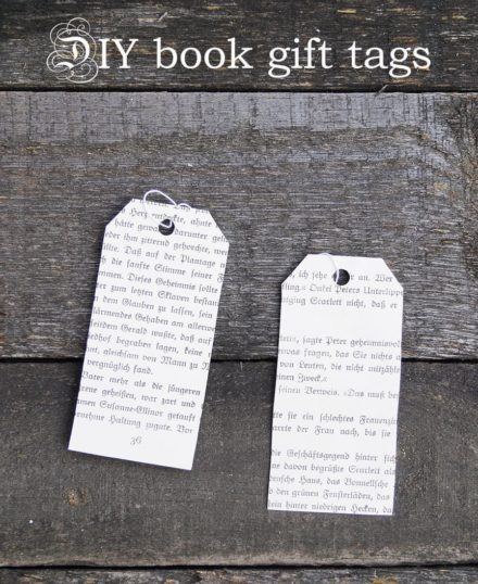 Upcycled Book Gift Tags