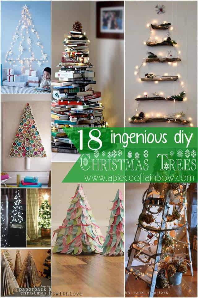 Do It Yourself Home Design: 18 Ingenious DIY Christmas Trees • Recyclart