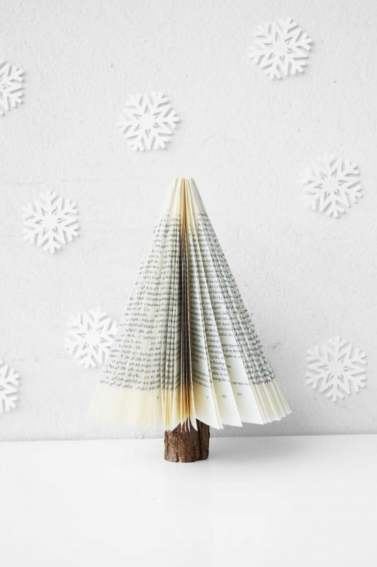 Christmas Book Tree Recycling Paper & Books
