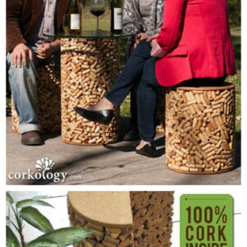 7,400 Wine Corks Upcycled Into Patio Set