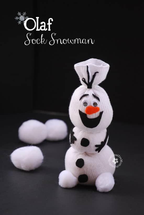 Diy Olaf Sock Snowman Tutorial • Recyclart