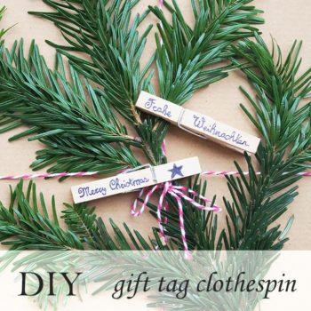 Gift Tag Clothespin