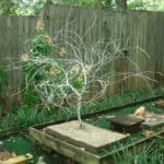 Twisted Wire Tree From Recycled Ground Wire