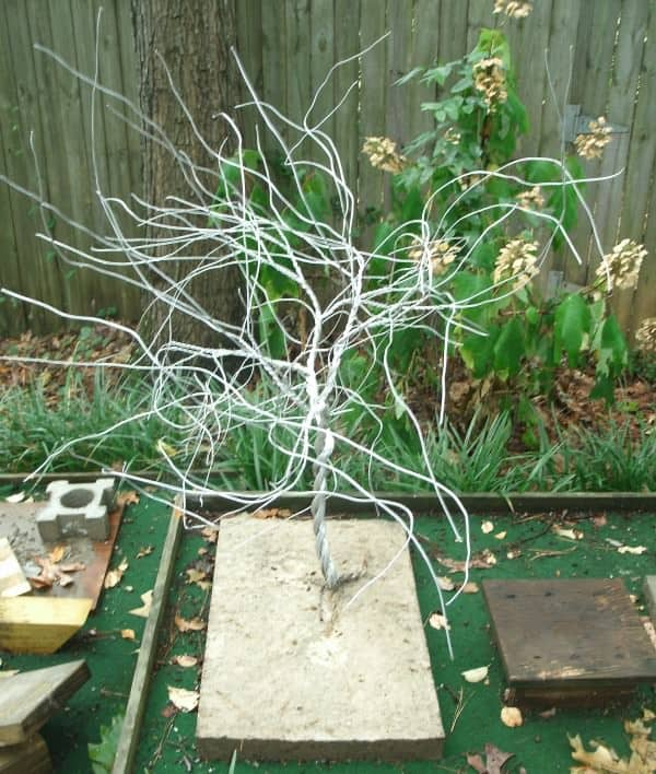 Twisted Wire Tree From Recycled Ground Wire Recycled Art Recycling Metal