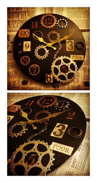 Repurposed Bike Parts into Industrial Clock