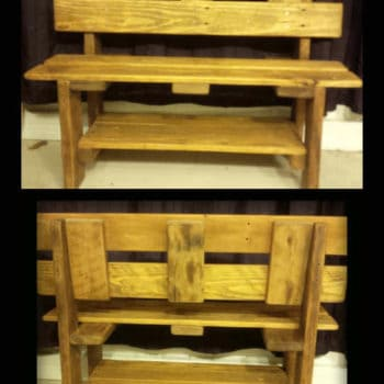 Toddler Benches Created from Upcycled Pallet Wood
