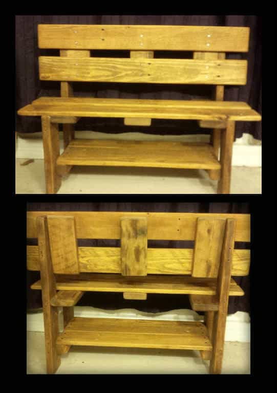 Toddler Benches Created from Upcycled Pallet Wood • Recyclart