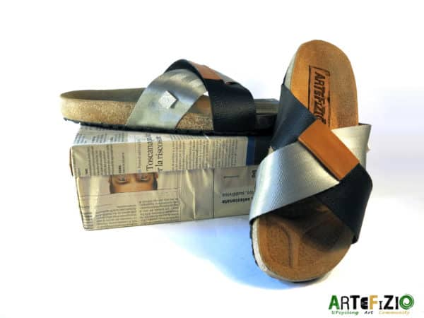 Upcycling Art Community – Campaign for Recycled Tires Sandal Accessories Recycled Rubber