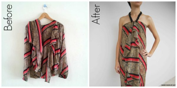 Upcycled Top into Chic Wrap Clothing