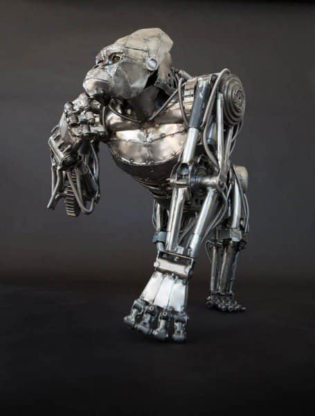 mechanical-metal-gorilla-standing-thinking_1