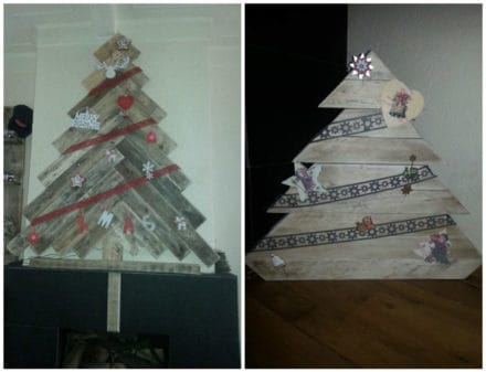 Christmas Trees From Repurposed Pallets
