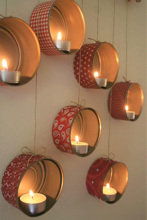 Diy: Hanging Tin Lanterns For X-mas Do-It-Yourself Ideas Recycling Metal