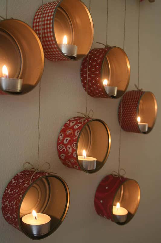Diy: Hangingtin Lanterns For X