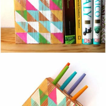 Reclaimed Wood Wall Hanging Pen Holder